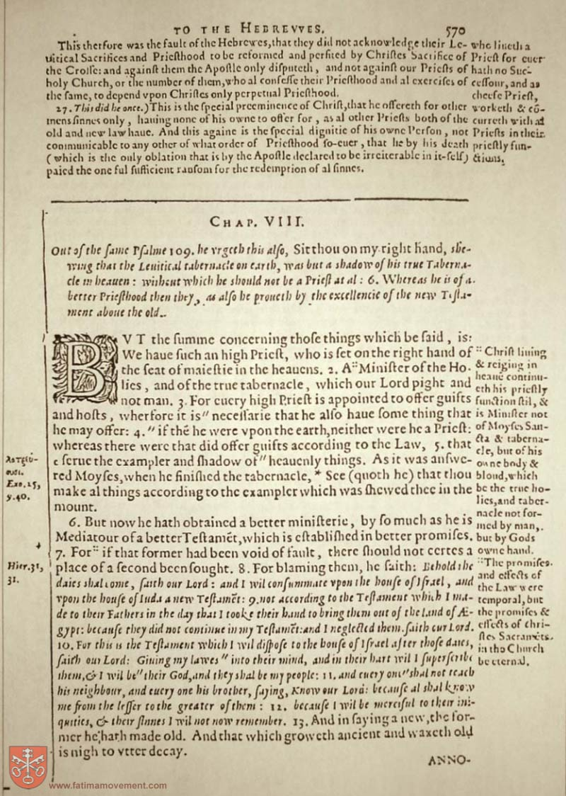 Original Douay Rheims Catholic Bible scan 2858