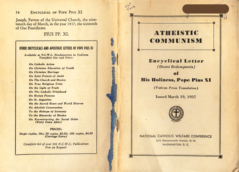 Antipope Pius XI Atheistic Communism Encyclical scan 01