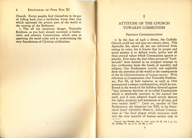 Antipope Pius XI Atheistic Communism Encyclical scan 03