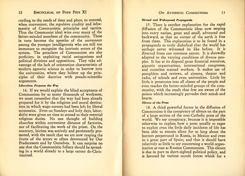 Antipope Pius XI Atheistic Communism Encyclical scan 08