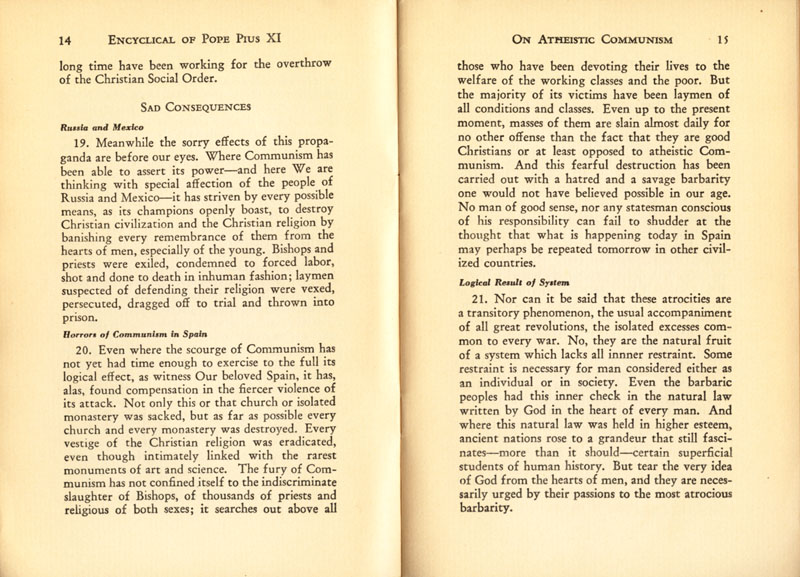 Antipope Pius XI Atheistic Communism Encyclical scan 09