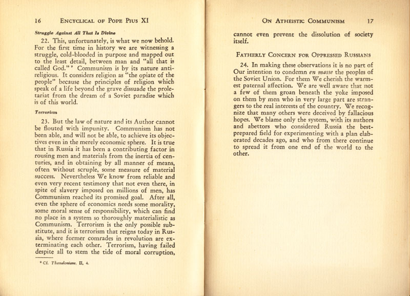 Antipope Pius XI Atheistic Communism Encyclical scan 10