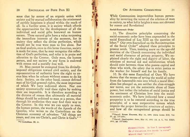 Antipope Pius XI Atheistic Communism Encyclical scan 12