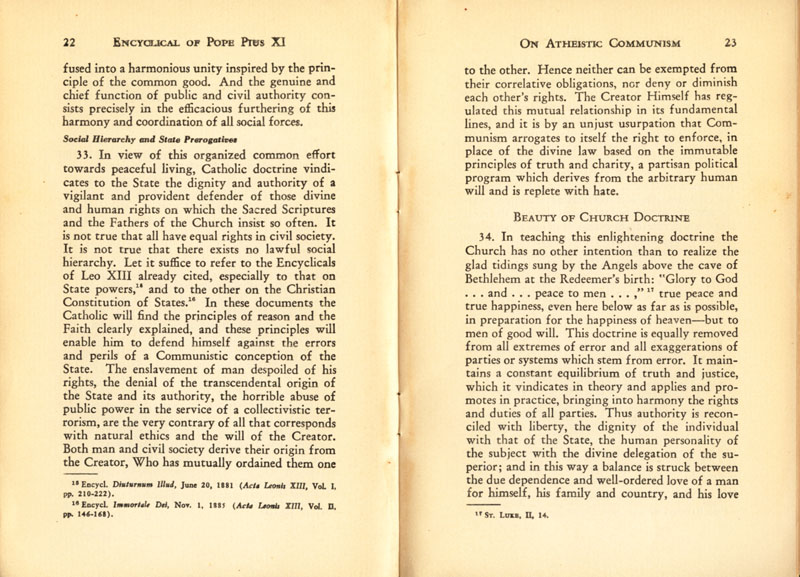 Antipope Pius XI Atheistic Communism Encyclical scan 13