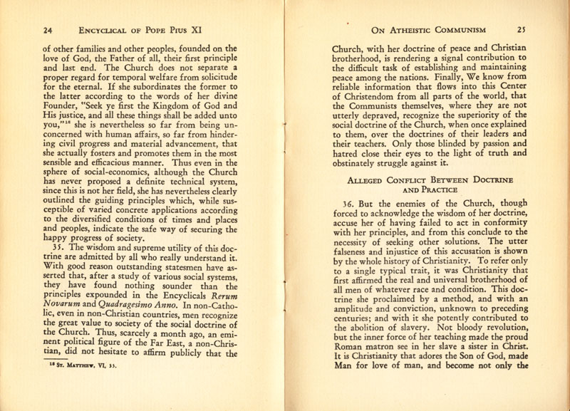 Antipope Pius XI Atheistic Communism Encyclical scan 14