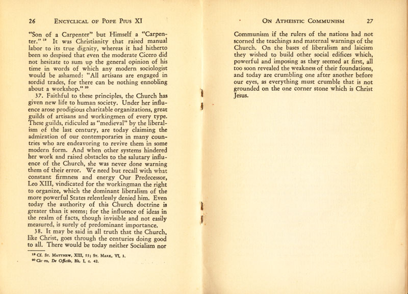 Antipope Pius XI Atheistic Communism Encyclical scan 15