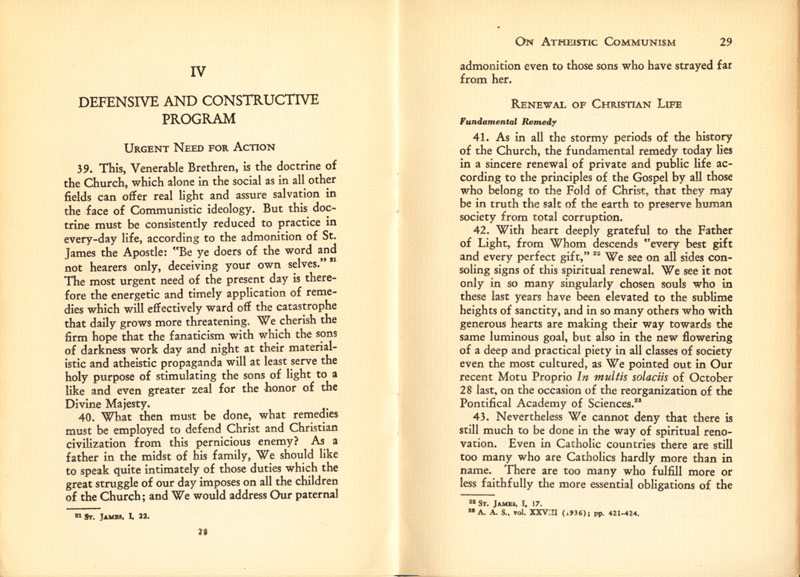 Antipope Pius XI Atheistic Communism Encyclical scan 16