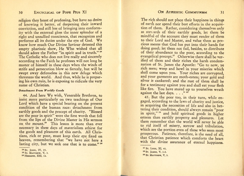 Antipope Pius XI Atheistic Communism Encyclical scan 17
