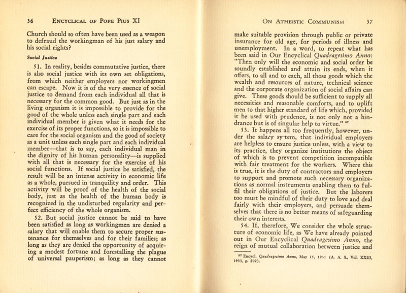 Antipope Pius XI Atheistic Communism Encyclical scan 20
