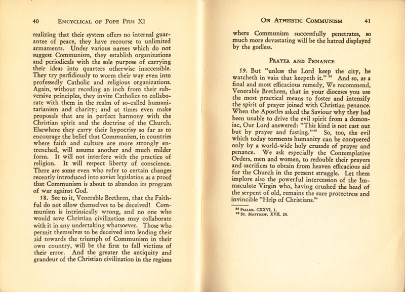 Antipope Pius XI Atheistic Communism Encyclical scan 22