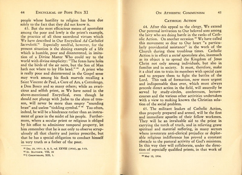 Antipope Pius XI Atheistic Communism Encyclical scan 24
