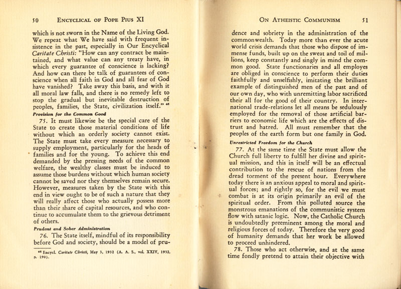 Antipope Pius XI Atheistic Communism Encyclical scan 27