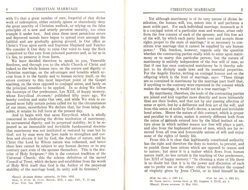 Pius XI Encyclical Christian Marriage page 04