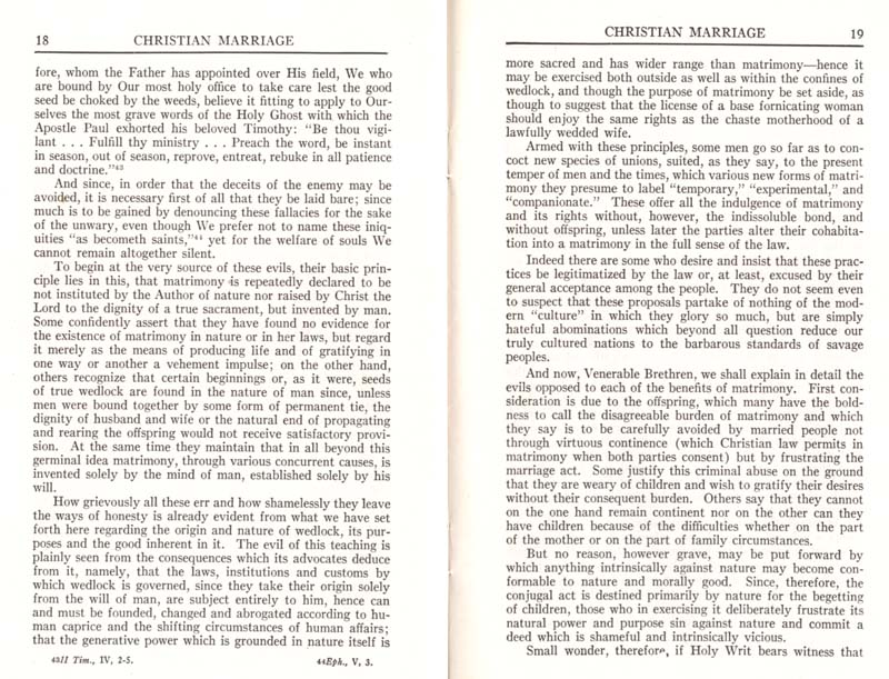Pius XI Encyclical Christian Marriage page 11