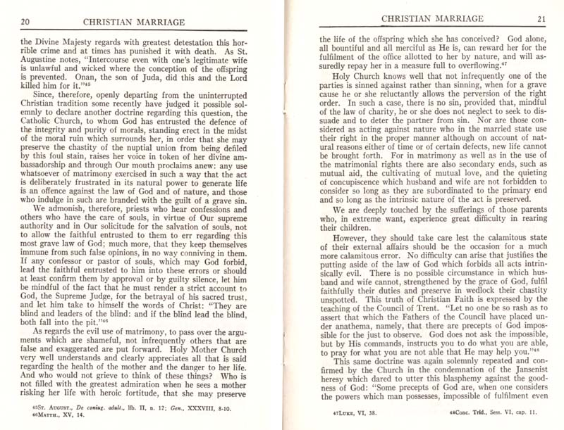 Pius XI Encyclical Christian Marriage page 12