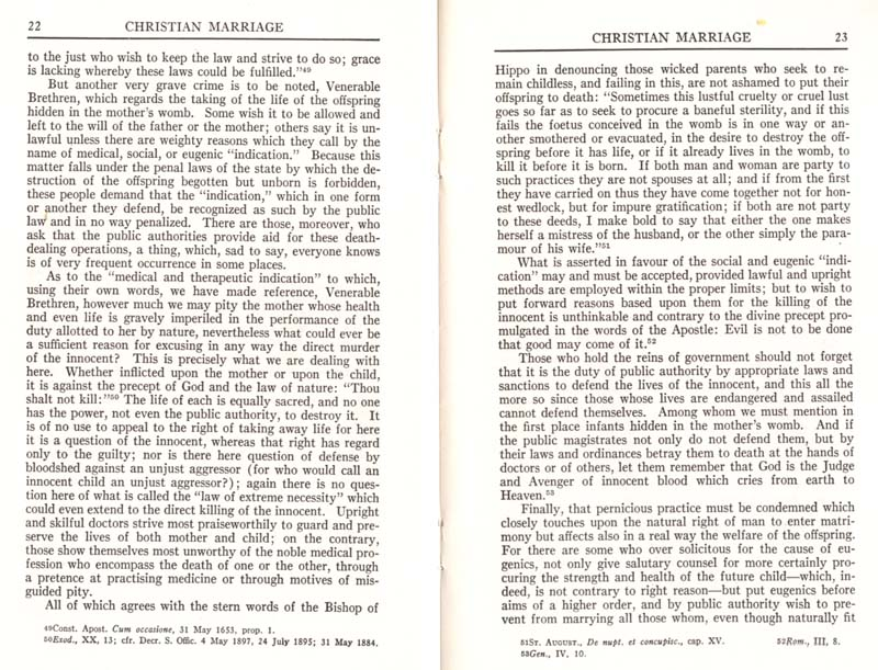 Pius XI Encyclical Christian Marriage page 13