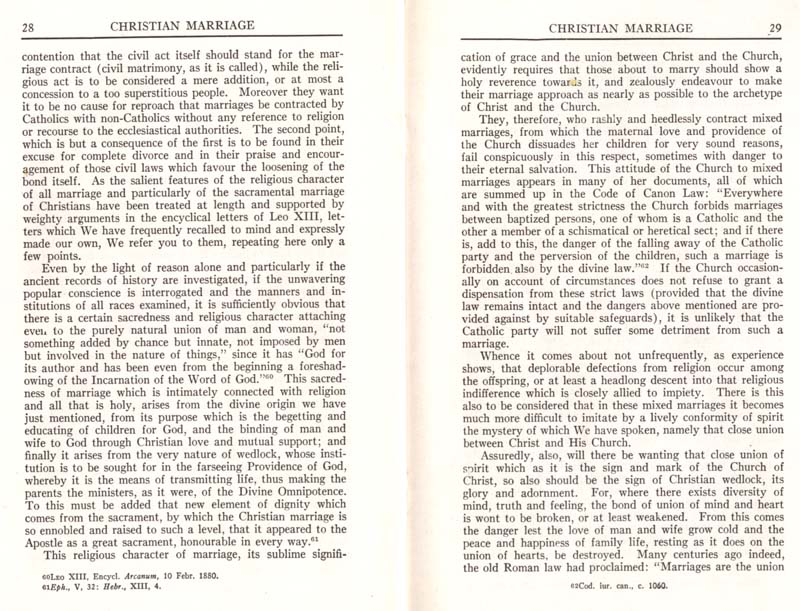 Pius XI Encyclical Christian Marriage page 16