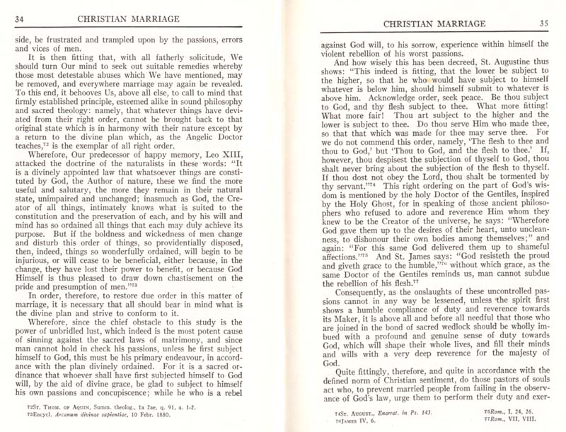 Pius XI Encyclical Christian Marriage page 19