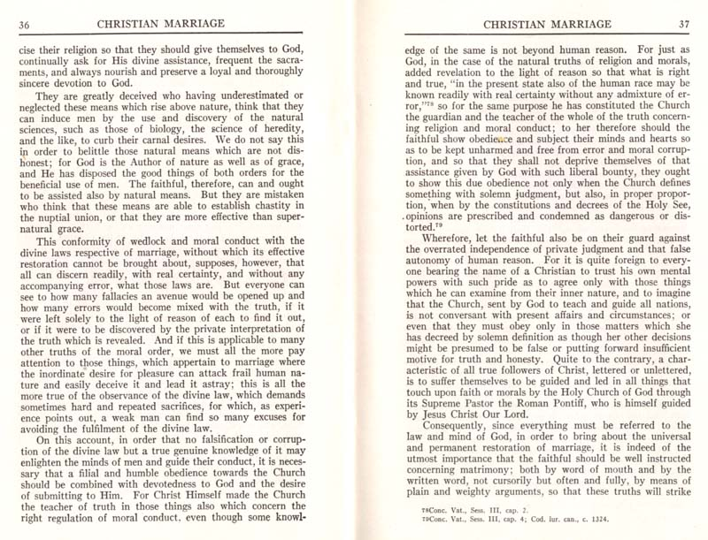 Pius XI Encyclical Christian Marriage page 20