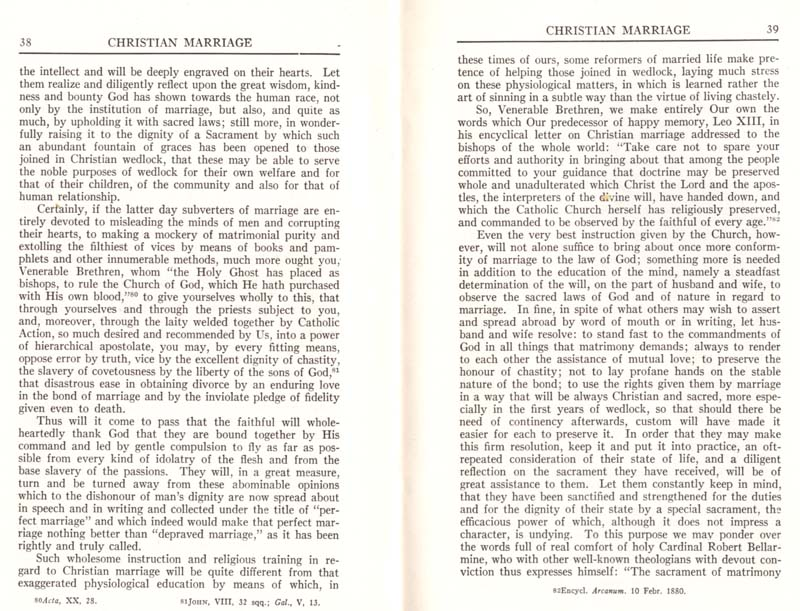 Pius XI Encyclical Christian Marriage page 21