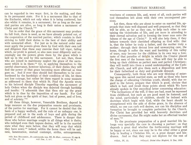 Pius XI Encyclical Christian Marriage page 22
