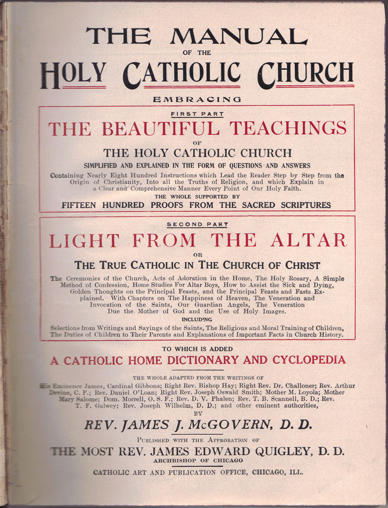 The Manual of The Holy Catholic Church a