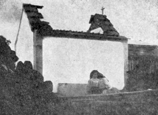Rare photograph of a small Church built near the site of the Fatima Apparitions in Portugal, destroyed with dynamite by Freemasons in 1921.