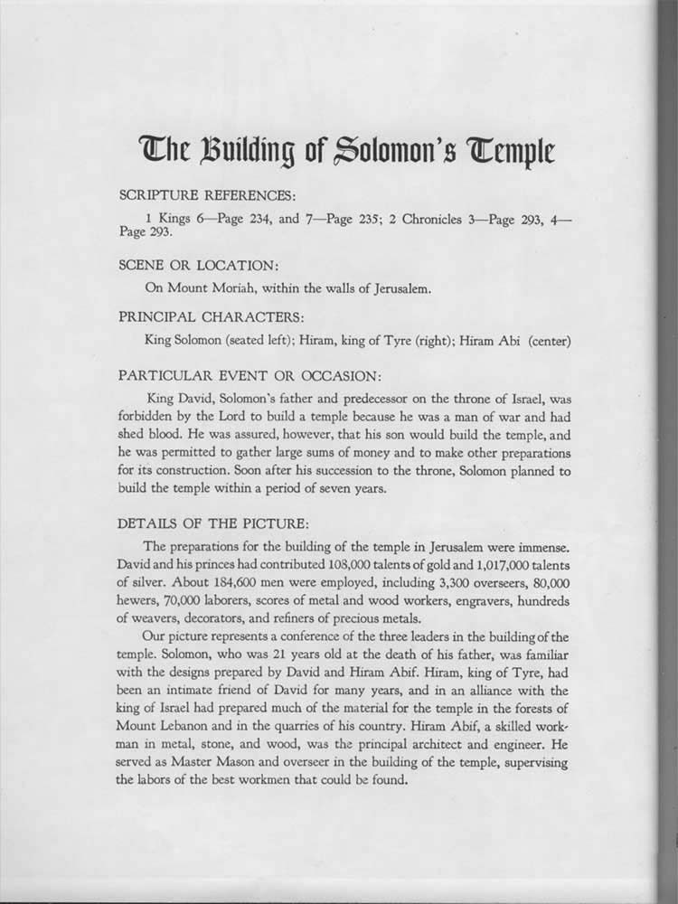Freemason Bible - Solomon's Temple
