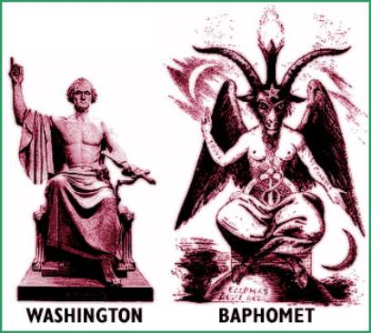 George Washington Baphomet Statue