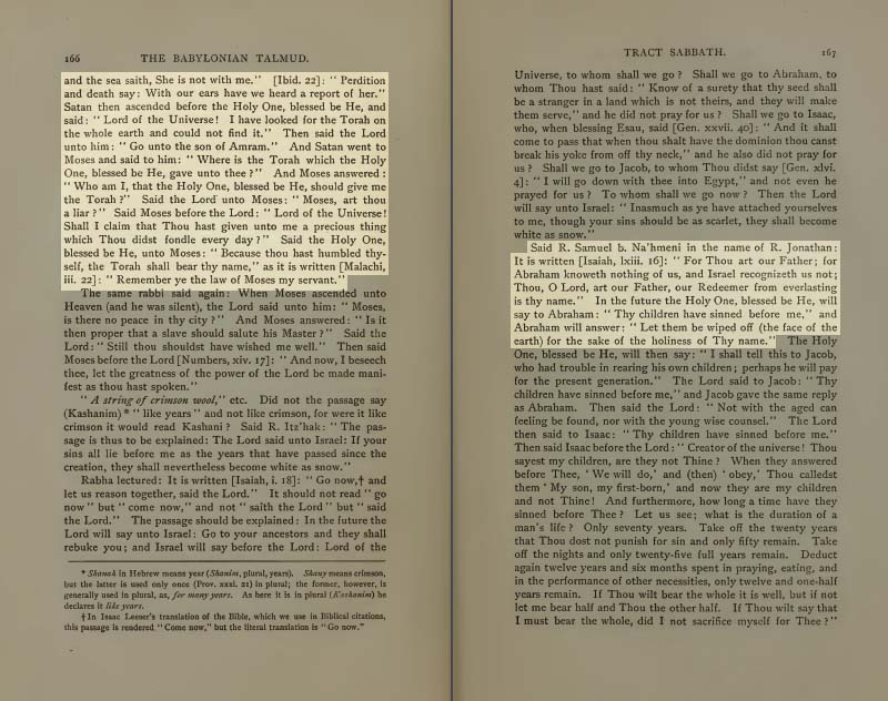 Pages 165-6 of Volume I of the Babylonian Talmud