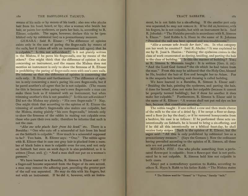 Pages 180-181 of Volume I of the Babylonian Talmud