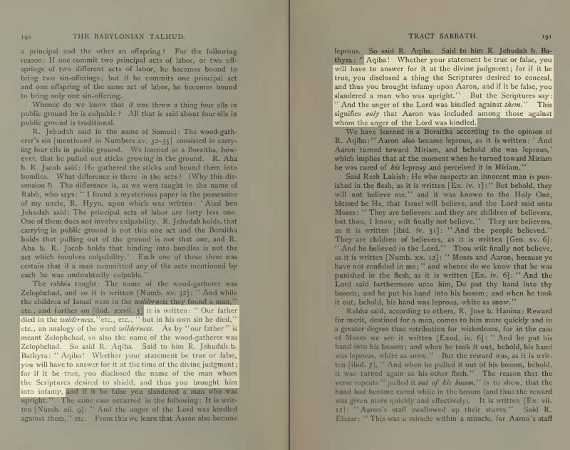 Pages 190-1 of Volume II of the Babylonian Talmud