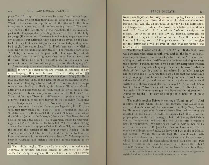 Pages 240-241 of Volume II of the Babylonian Talmud