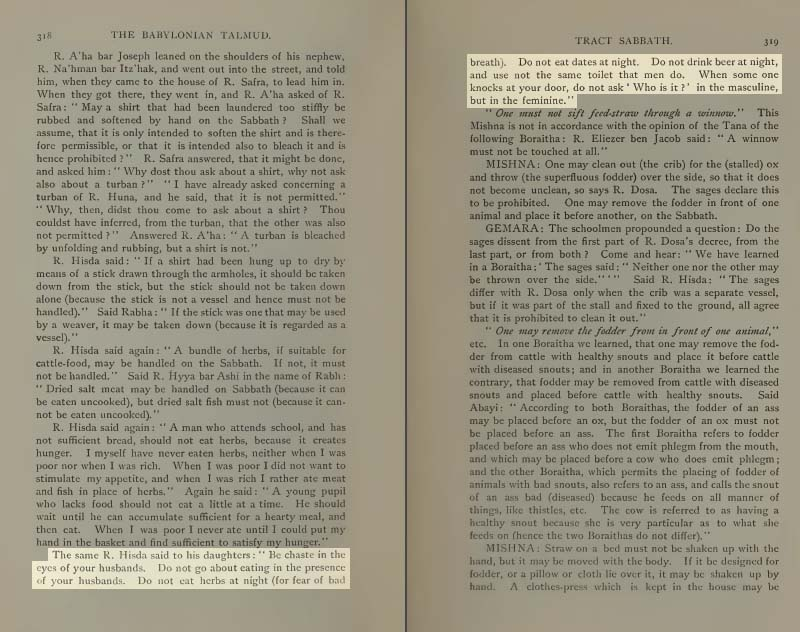 Pages 318-319 of Volume II of the Babylonian Talmud