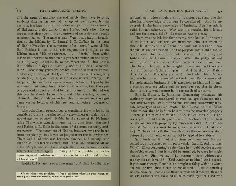 Page 350 of Volume VI of the Babylonian Talmud