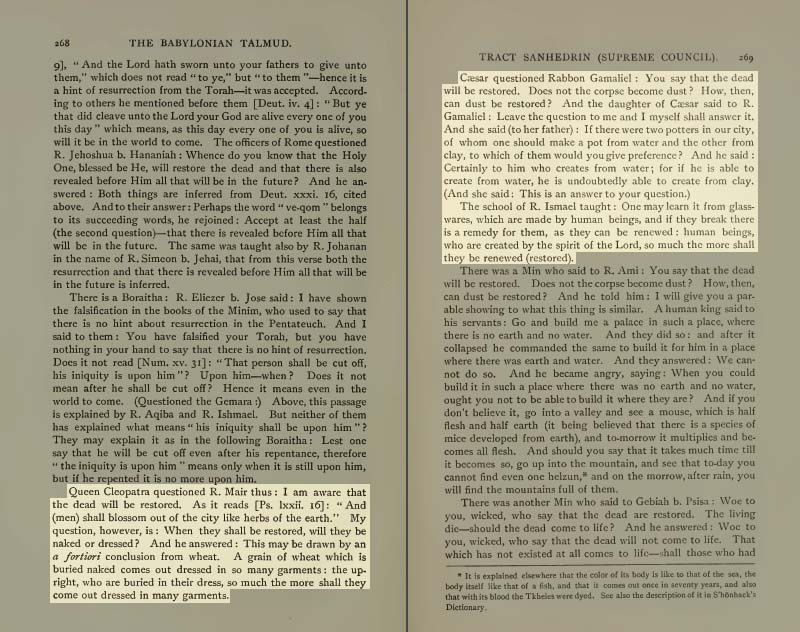 Pages 268-269 of Volume XVI of the Babylonian Talmud