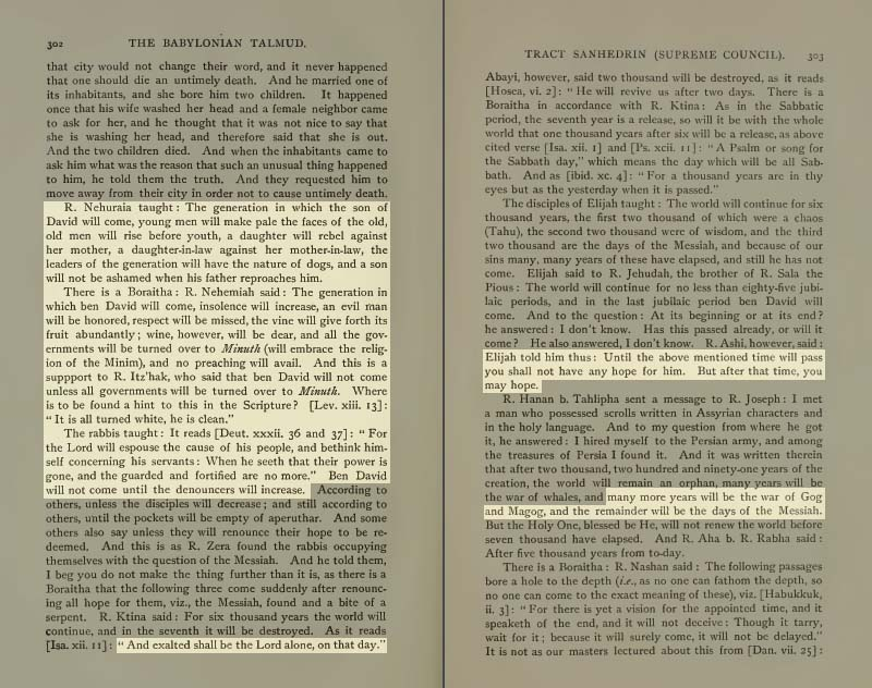 Pages 302-303 of Volume XVI of the Babylonian Talmud