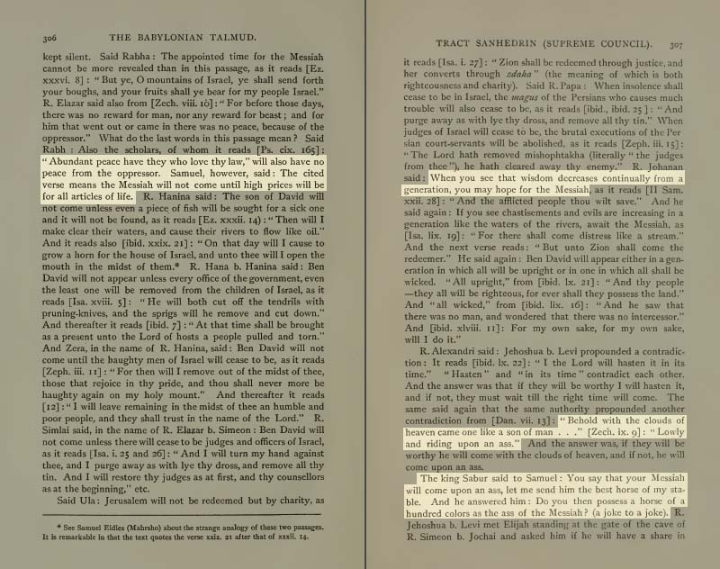 Pages 306-307 of Volume XVI of the Babylonian Talmud