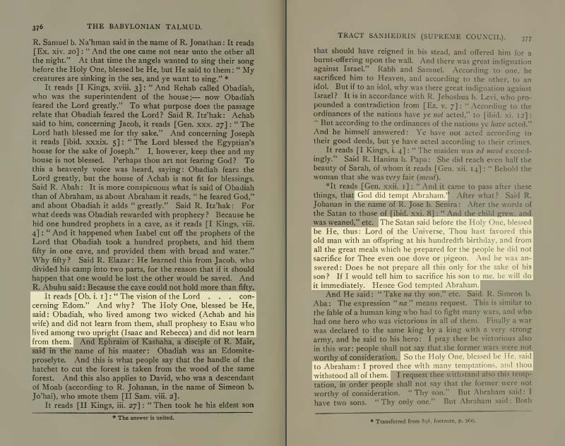 Pages 376-377 of Volume XVI of the Babylonian Talmud