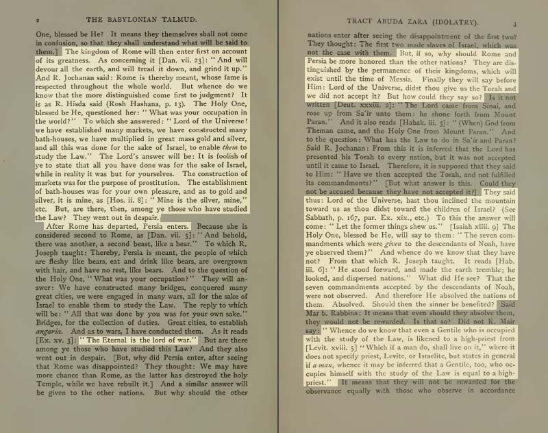 Pages 2-3 of Volume XVIII of the Babylonian Talmud