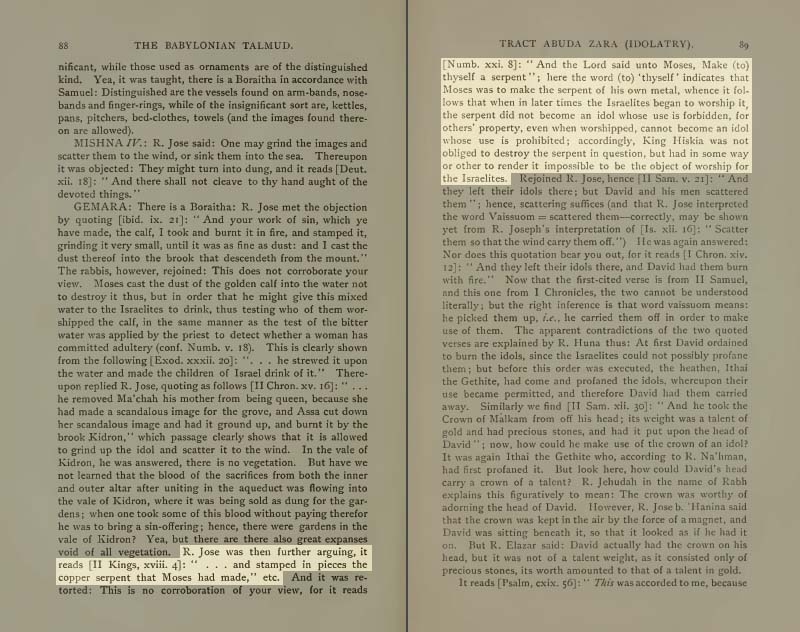 Pages 88-89 of Volume XVIII of the Babylonian Talmud