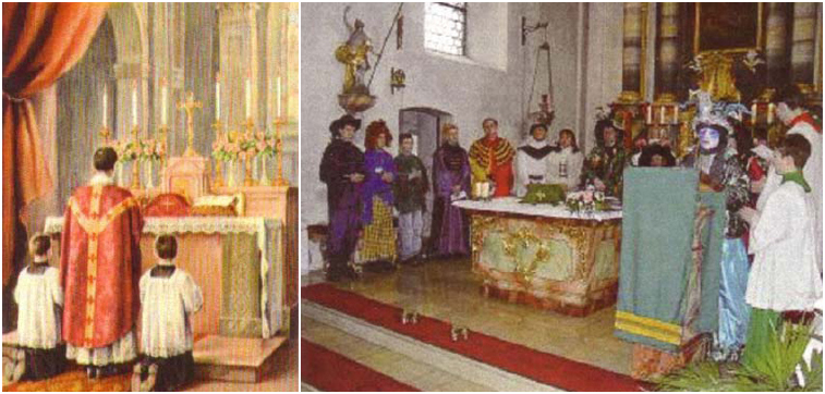 The pre-Vatican II Latin Mass and the Vatican II Rite