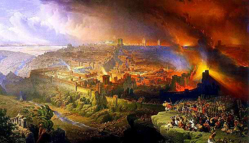 The destruction of the Second Jewish Temple, 70 A.D.