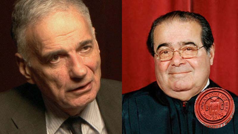 Ralph Nader criticizes Antonin Scalia's attendence at Bohemian Grove