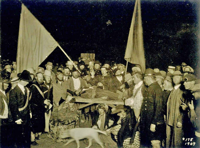 Young Black Boy prepared for sacrifice at Bohemian Grove, 1909
