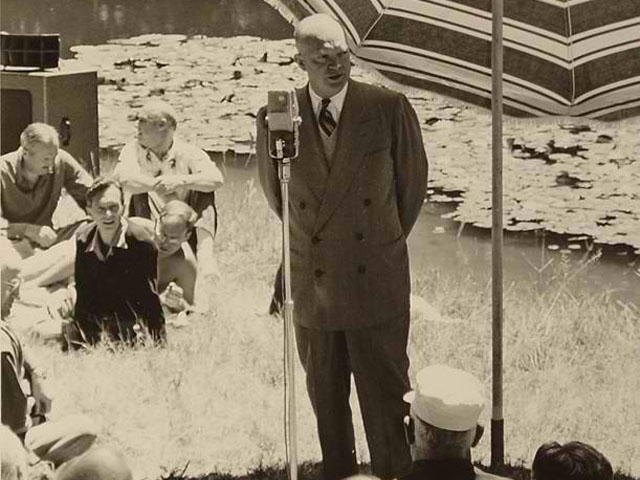 U.S. President Eisenhower at the Bohemian Grove