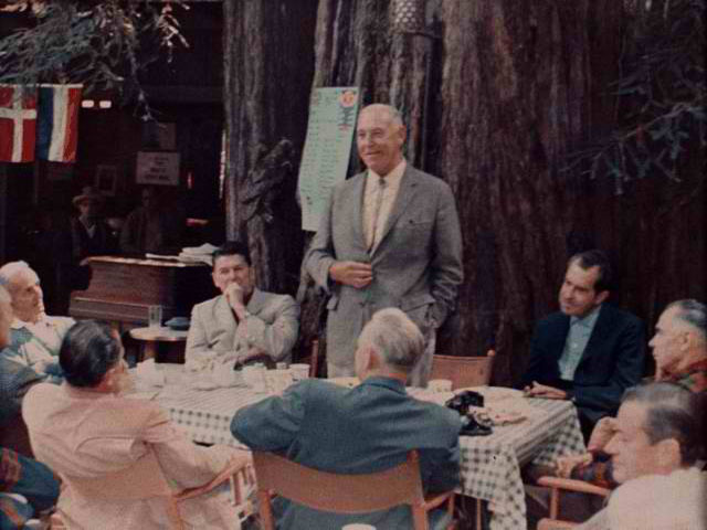 Ronald Reagan, Richard Nixon and others at Bohemian Grove