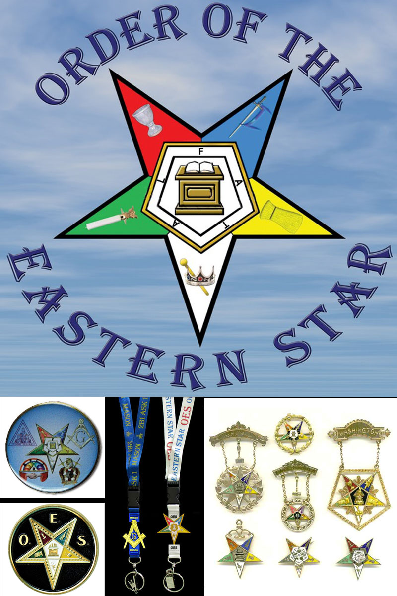 Order of the Eastern Star logo featuring the Bible