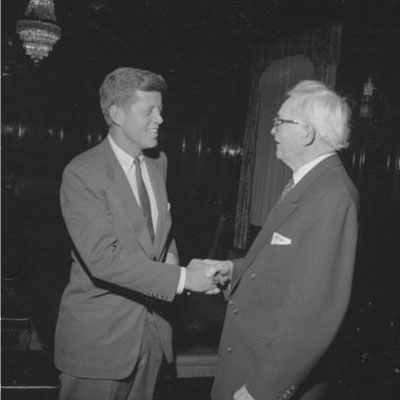 "the ""put a man on the moon"" U.S. President John F. Kennedy and David O. McKay (who was president of the Mormon sect, founded by Freemason John Smith)"