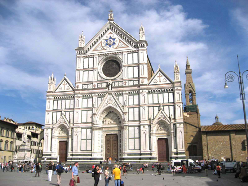 IHS in Center of Hexagram, Basilica of Santa Croce, Florence, Italy, 2008.